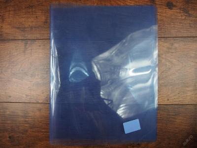 Plastové spisové desky A4, modré průhledné