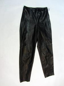 Kožené kalhoty vel. ? - obvod pasu: 70 cm (8856)