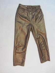 Kožené dámské kalhoty vel. 40 - obvod pasu: 72 c