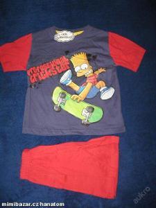 komplet, pyžamo Bart Simpsons 6let