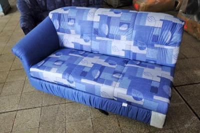 Sofa rozkládací, mikroplyš 160 cm (5345)
