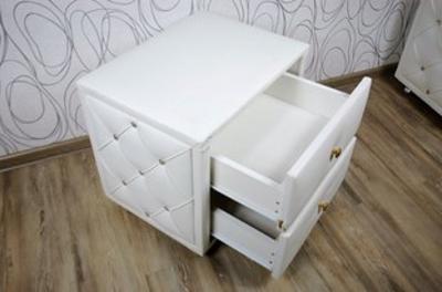 Noční stolek, kontejner se šuplíky, bílý (12238B)