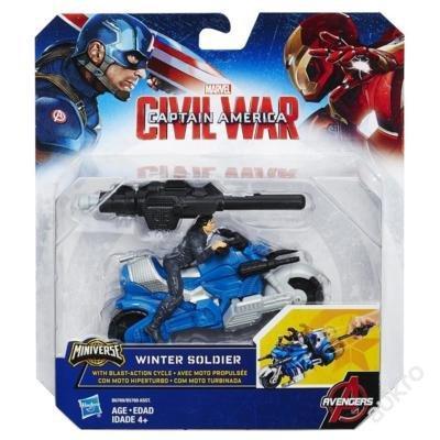 CAPTAIN AMERICA CIVIL WAR motorka s vystřelovákem