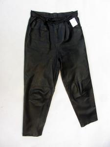 Kožené kalhoty - obvod pasu: 80 cm - (8566)