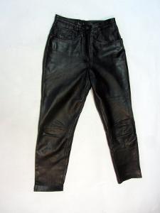 Kožené dámské kalhoty obvod pasu: 72 cm