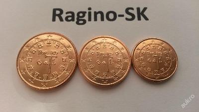 Portugalsko 2002 - Sada 1+2+5 Cent UNC