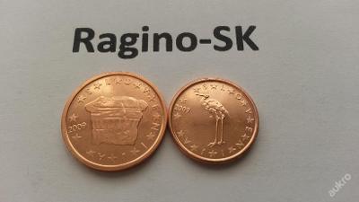 Slovinsko 2009 - Sada 1+2 Cent UNC