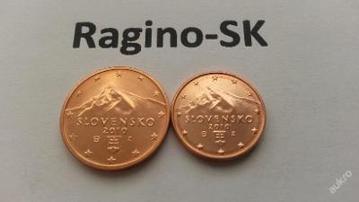 Slovensko 2010 - Sada 1+2 Cent UNC