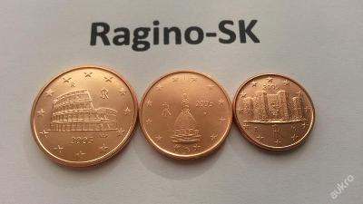 Itálie 2005 - Sada 1+2+5 Cent UNC