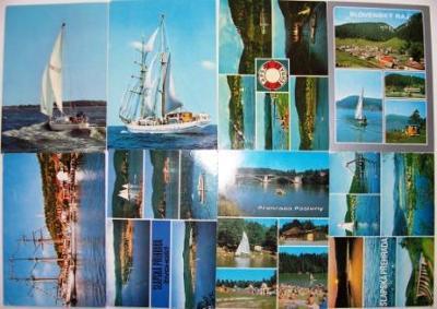 8x použité plachetnice Wilhelm Pieck lodě přehrady