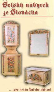 Selský malovaný nábytek ze Slovácka-sestava