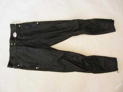 Kožené kalhoty  obvod pasu: 82 cm -  patina