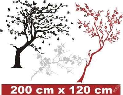 Samolepka na zeď _ japonská třešeň 200x120cm strom