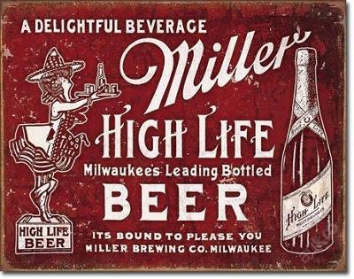Retro reklamní cedule-Miller - Bound to Please