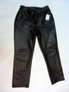 Kožené dámské kalhoty vel. 44 - obvod pasu: 82 c