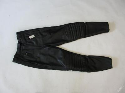 Kožené kalhoty vel.38 obvod pasu: 68 cm
