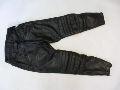 Kožené kalhoty vel. 38 obvod pasu: 68 cm