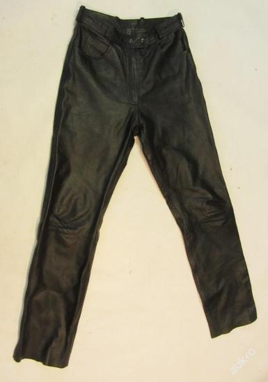 Kožené kalhoty  FAST WAY vel.38 - obvod pasu:72  - Náhradní díly a příslušenství pro motocykly