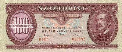 MADARSKO 100 Forint 1993 P-174b UNC
