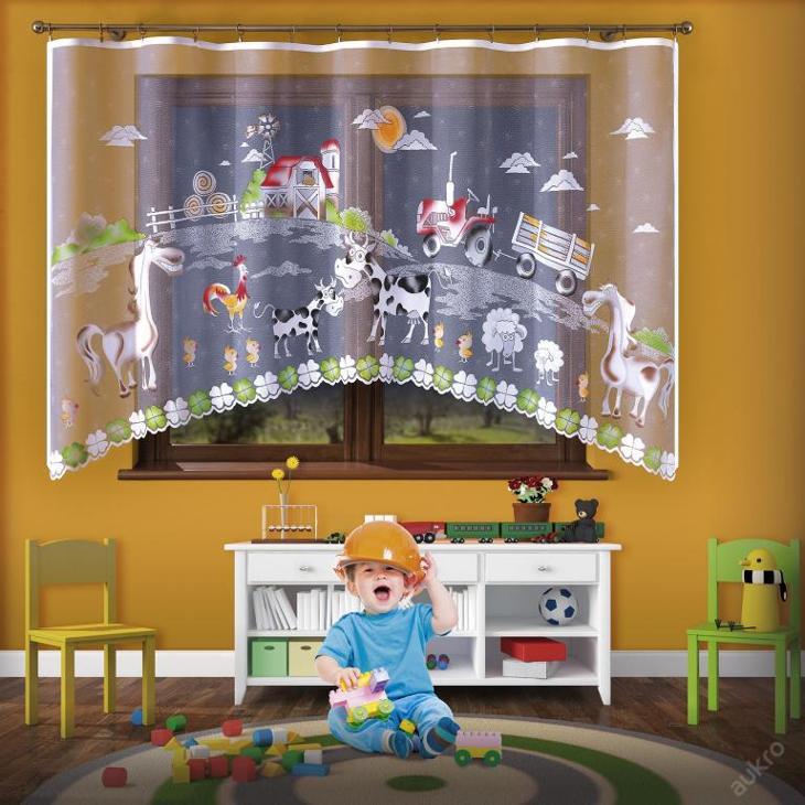 DETSKA ZÁCLONA FARMA VÝŠKA 160 cm  SIRKA 3 m - Dětský pokoj