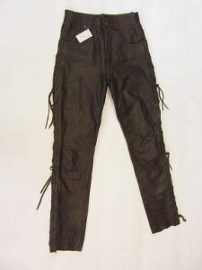 Kožené šněrovací kalhoty LINUS vel. 28 pas: 72 c