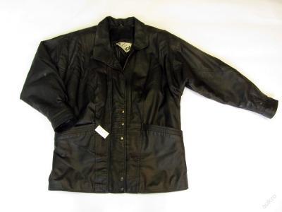 Kožená bunda kabát - vel.? - (7097)