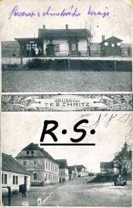 Deštnice 1916 - Žatec , Louny  -  nádraží