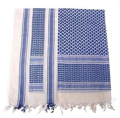 Šátek palestina, Arafat, barva modro-bílá