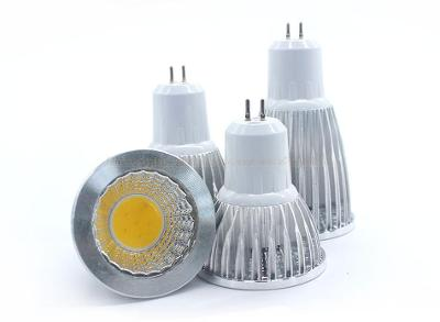 Bodavá LED žárovka MR16 9W 220V COB teplá bílá