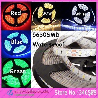 Vodotěsný 5m LED pásek 5630SMD  DC12V zelený