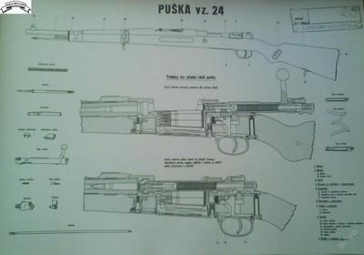 puška vz. 24 - obraz A3 nelaminovaný
