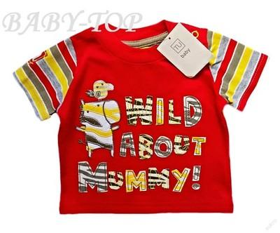 Kvalitní tričko s nášivkami MUMMY 100%bavlna TU 2-3m NOVÉ