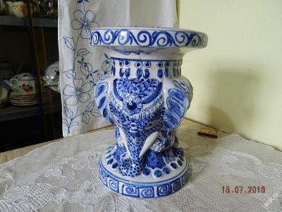 Starý malovaný porcelánový Stojan Podstavec Sokl