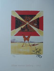 Salvador Dalí - barevná litografie