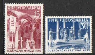 Jugoslávie  - Zum.808-809 - Divadelní festival