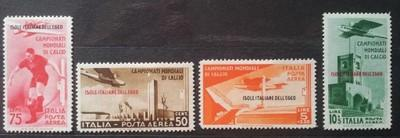 Egejské ostrovy 1934 MS ve fotbale, kat. 80 Euro!