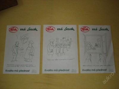 Letáky na výrobky ŠPAK s vtipem