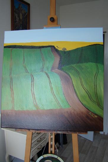 """Obraz olej na plátně ,,POKLIDNÉ"""" - Umění"""
