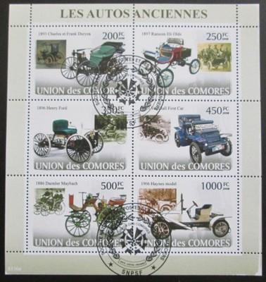 Komory 2008 Stará auta Mi# 1825-30 12.60€ SLEVA - Filatelie