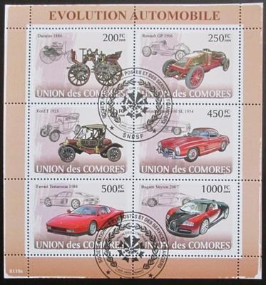Komory 2008 Automobily Mi# 1831-36 13.60€  SLEVA - Filatelie