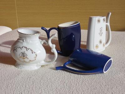 4 porcelánové lázeňské pohárky (Karlovy Vary)