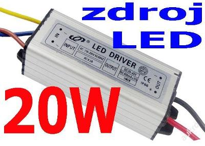 LED Al kompaktní zdroj pro čip 20W LED - skladem!