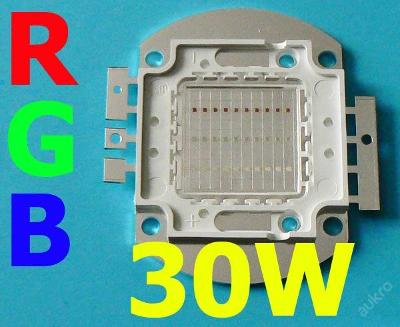 LED čip RGB 30W (=250W)   DODÁME IHNED !!!