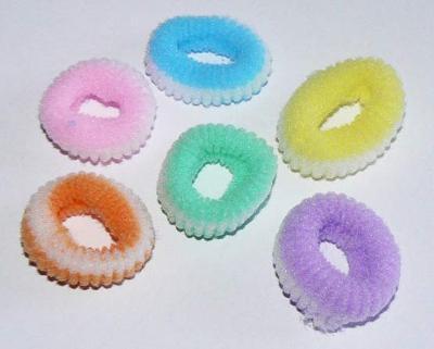 Gumička do vlasů, prům. cca 3cm, fialová 5 ks