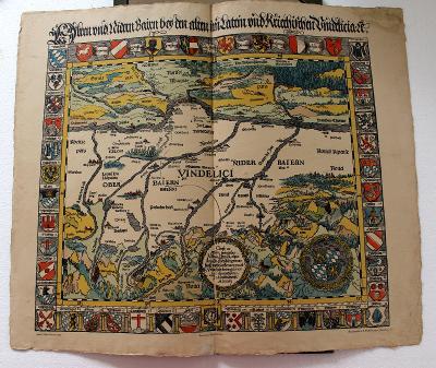 Aventins Karte von Bayern, MDXXIII