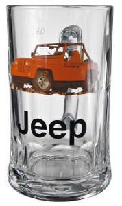 # SUPER CENA ! Sada 4 půllitrů s dekorem Jeep