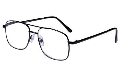 Dioptrické brýle čtecí VELKÉ kovové, dioptrie +4,0