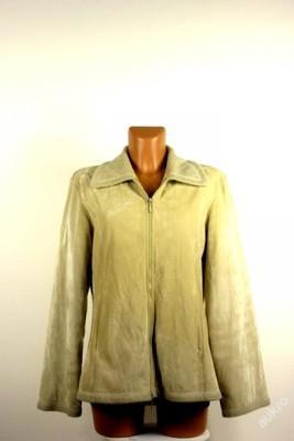 Dámská semišová béžová  bunda-vel: L/XL
