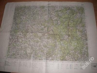 mapa Kaplice - 1:75 000