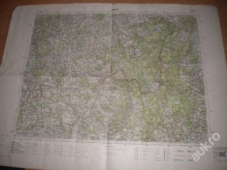 mapa Kaplice - 1:75 000 - Antikvariát
